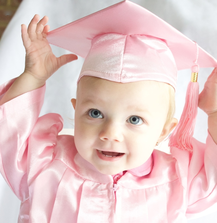 Baby Graduation Cap & Gown Set - Kinder Keepsakes, LLC